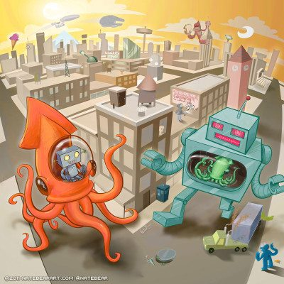 Squid vs Robot