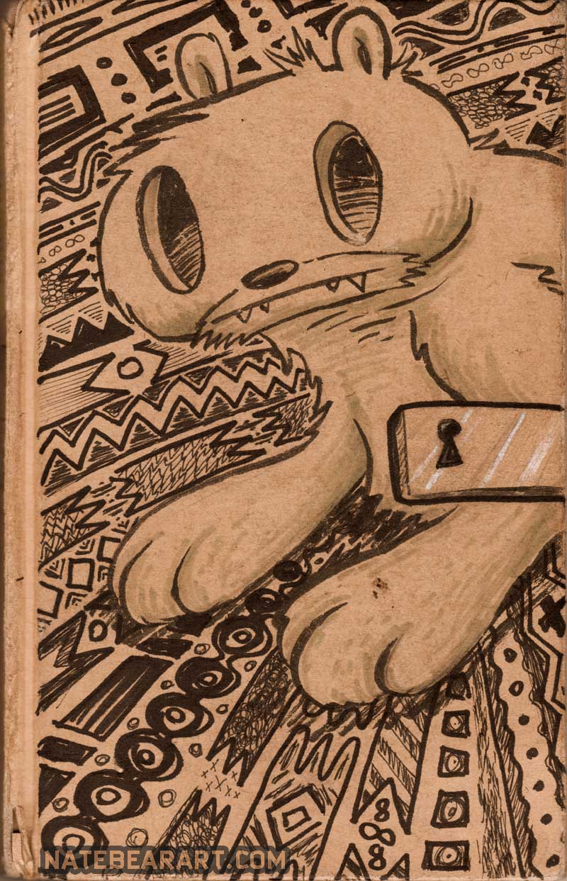 Sketch Book Cover ~ Sketchbook cover nate bear